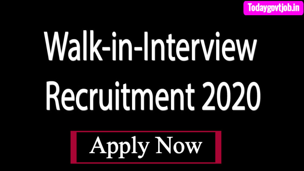 Walk-in-Interview Senior Residents on Contract Basis Recruitment 2020