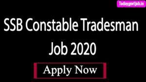 SSB Constable Tradesman