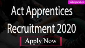Act Apprentices Recruitment 2020