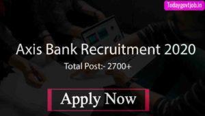 Axis Bank Recruitment 2020