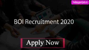 BOI Recruitment 2020