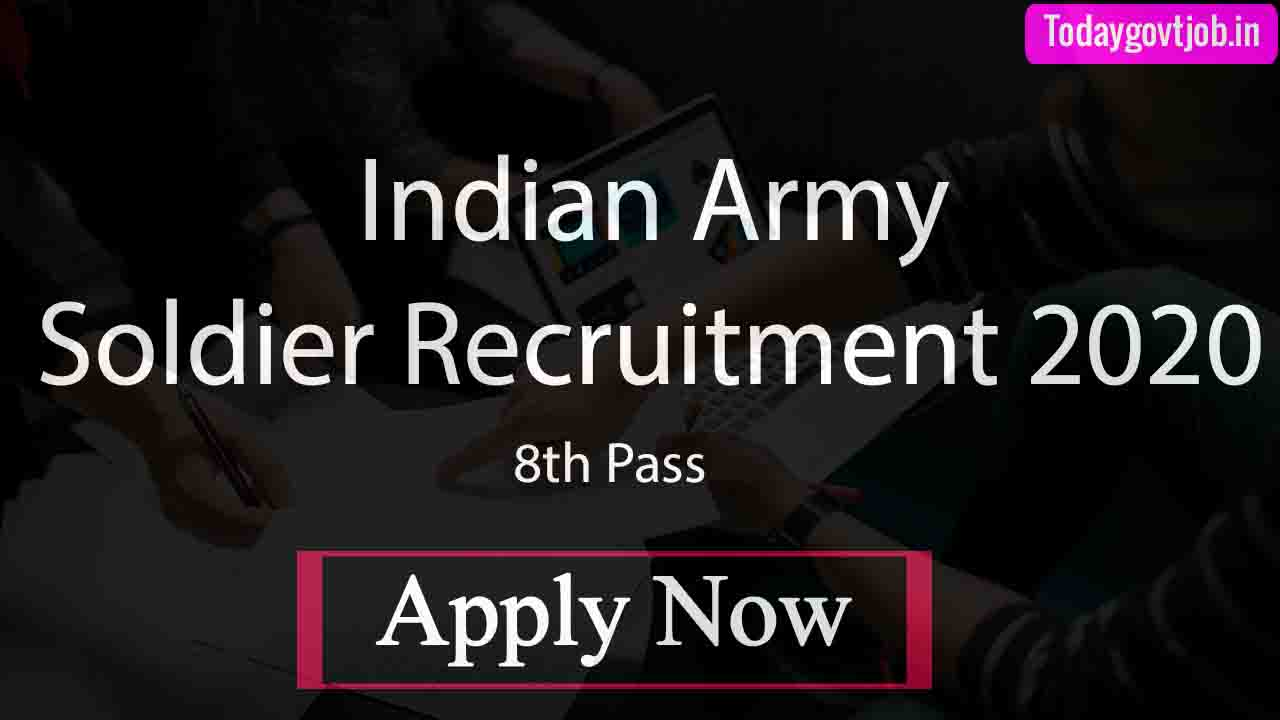 Indian Army Soldier Recruitment 2020