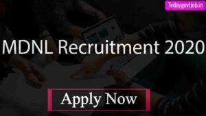 MDNL Recruitment 2020