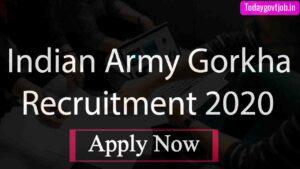 Indian Army Gorkha Recruitment 2020