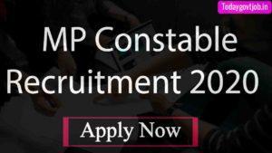MP PEB Constable Recruitment 2020