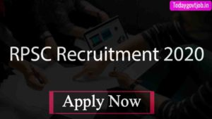 RPSC Recruitment 2020