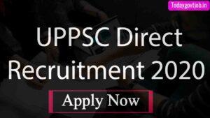UPPSC Direct Recruitment 2020
