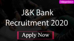 J&K Bank Recruitment 2020