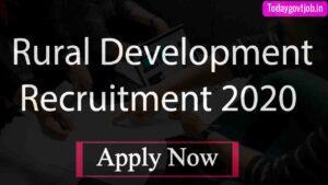 Rural Development Recruitment 2020